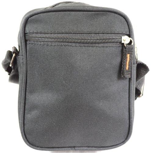 tamaño bolso negro de Práctico negro cruzado lona hombro o de pequeño 0pCxqZPd