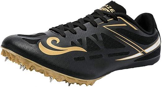 FJJLOVE Zapatillas de Atletismo Unisex Zapatillas de Cricket Zapatillas ultraligeras Profesionales de 8 Clavos Zapatillas de Entrenamiento para competición,Negro,44: Amazon.es: Hogar