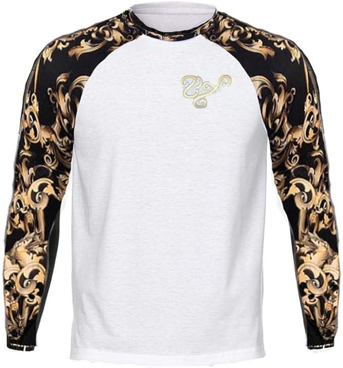 TIFIY Mode Hommes Chemise Casual Col Rond Imprimé léopard