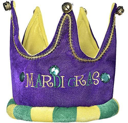 Plush Mardi Gras Crown -