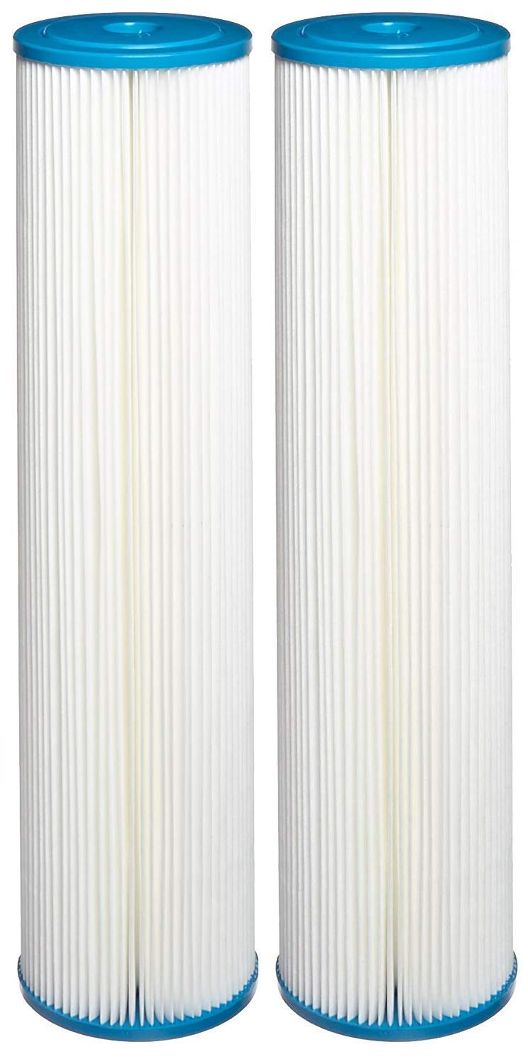 Hydronix SPC-45-2005 Polyester Pleated Filter 4.5'' OD X 20'' Length, 5 Micron (Pack of 2) by Hydronix