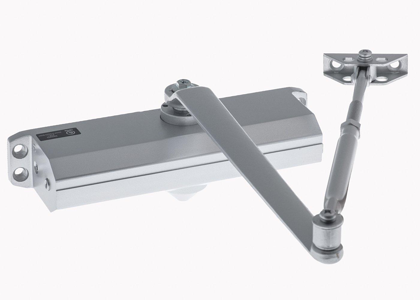 Medium/Heavy Duty Grade 1 Commercial Cast Aluminum Door Closer, Lawrence Hardware Model LH5016 - for high-traffic entrances/doorways. Norton 1600 Footprint by Lawrence Hardware (Image #2)