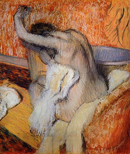 Edgar Degas - After The Bath, Woman Drying Herself Drawing - Pastel The Courtauld Gallery - London 30
