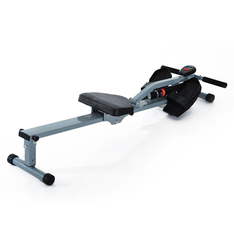 Máquina de Remo Ajustable con Pantalla para Fitness y Ejercicios de Musculación