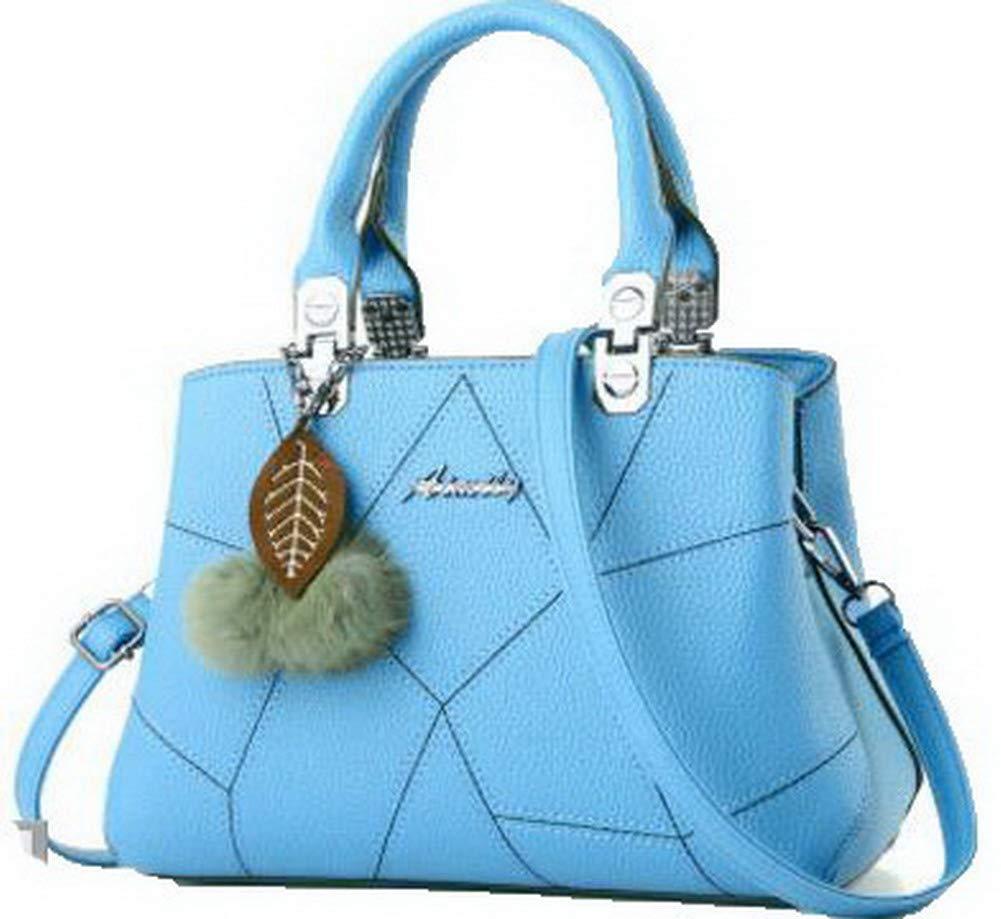 AgooLar Femme Dacron Zippers Mode Travail Sacs à bandoulière, GMBAB181764, Bleu GMBAB181764-Blue