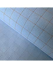 """14CT Cross Stitch Fabric Easy Count Thread Grid Aida Cloth Needlepoints Woven Fabric, White, 59""""W x 39""""L"""