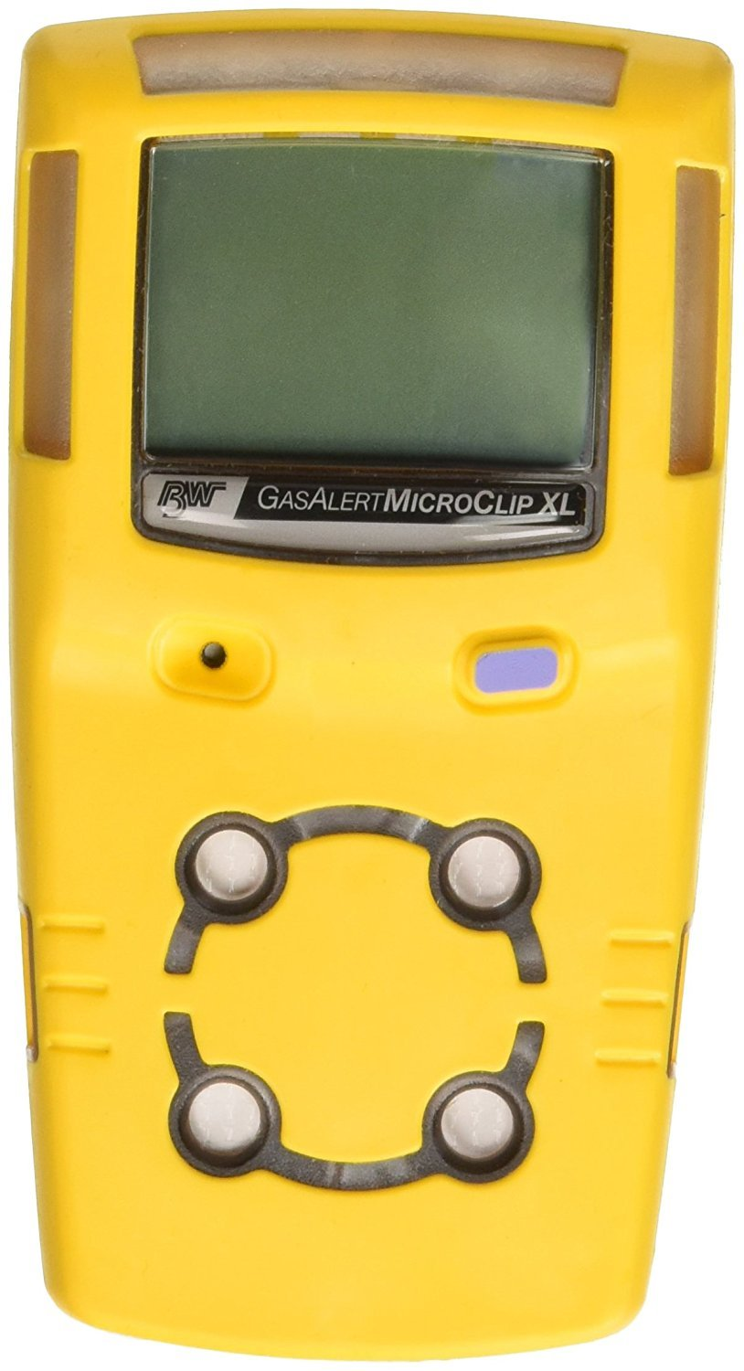 BW Technologies MCXL-XWHM-Y-NA GasAlertMicroClip XL 4 Gas Detector, CO, H2S, LEL and O2, Yellow: Amazon.com: Industrial & Scientific