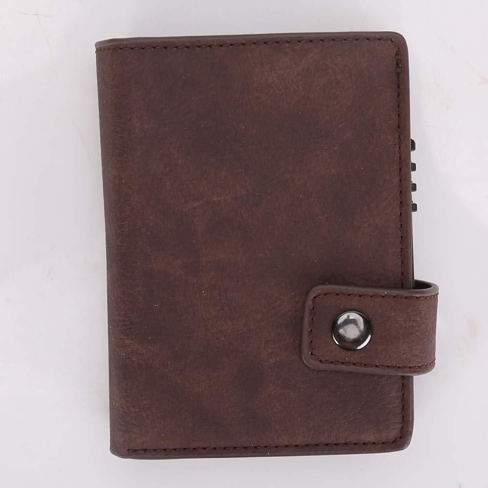 Funda tipo cartera para tarjetas de cr/édito dise/ño delgado con bolsillo delantero