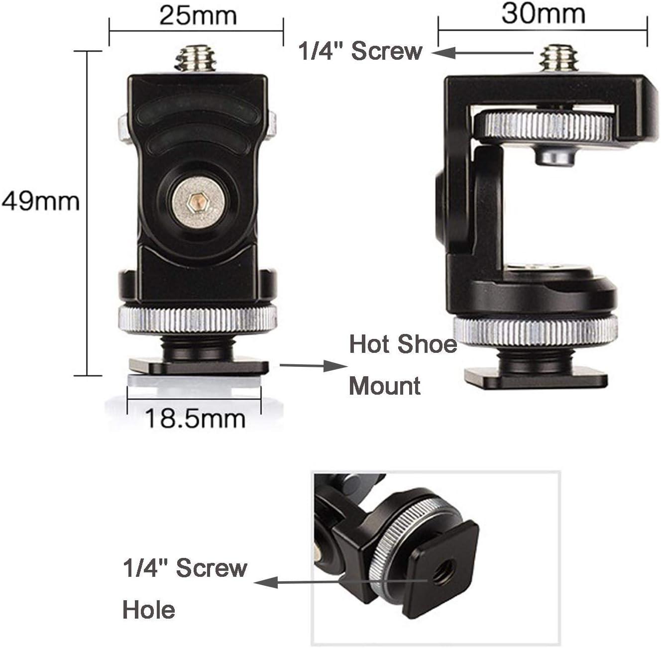Camera Hot Shoe Mount Adapter Monitor Holder Compatible with Atomos Ninja Inferno Shogun ANDYCINE SmallRig Cage NATO Rail GoPro for LED Light Mic ...