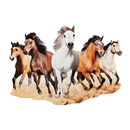 Amazon.com: Collections Etc Majestic Horses Metal Wall Art Indoor ...