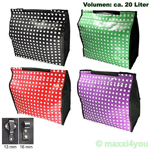01170425SV-13 Fahrrad Gepäckträgertasche Seitentasche Tasche violett Punkte 13 mm