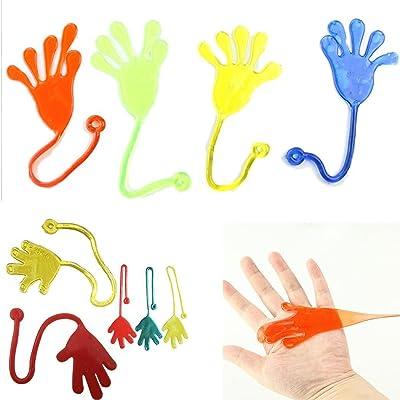 Ncient Jouet Anti-Stress & Relaxantes Éxtensibles - Mains Collantes Jouets - Jeux de Notre Enfance Jouet Tretchable Sticky Hands (Couleuraléatoire)