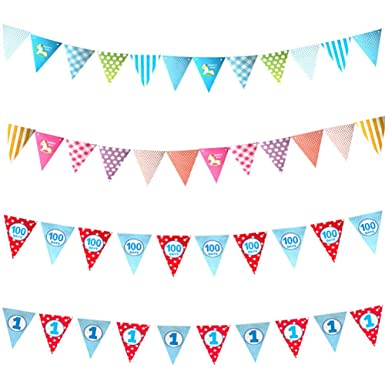 Amazon.com: Banderines de felicitación de cumpleaños para ...