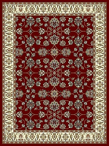 Traditional Area Rugs Red 4x6 Rugs for Entryway Foyer Rugs Clearance