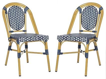 Groovy Amazon Com Safavieh Pat4036A Set2 Outdoor Collection Lenda Inzonedesignstudio Interior Chair Design Inzonedesignstudiocom