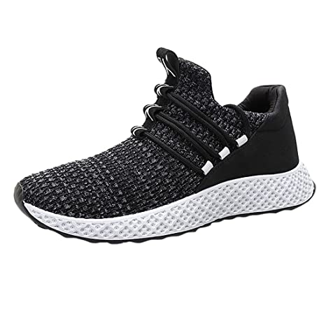 698573149e60a Amazon.com: Men Lace Up Sneakers,Mosunx Athletic Boys Breathable ...