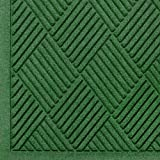 Andersen 221 Waterhog Fashion Diamond Polypropylene Fiber Entrance Indoor/Outdoor Floor Mat, SBR Rubber Backing, 12.2' Length x 4' Width, 3/8'' Thick, Light Green