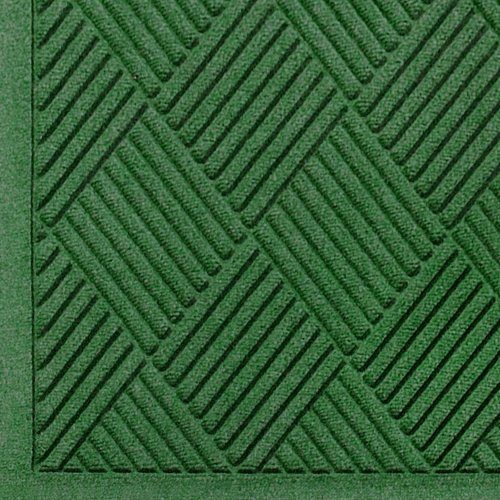 M+A Matting 221 Waterhog Fashion Diamond Polypropylene Fiber Entrance Indoor Floor Mat, SBR Rubber Backing, 3' Length x 2' Width, 3/8
