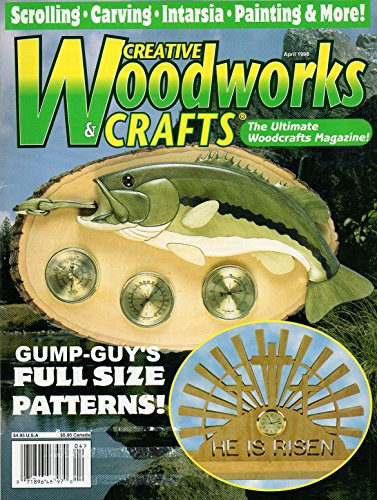 Creative Woodworks & Crafts April 1998 The Ultimate Woodcrafts Magazine Boston Tile Box