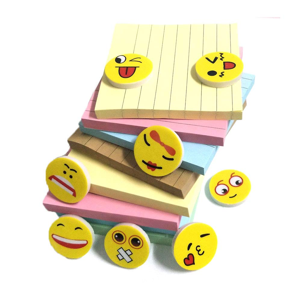 Sticky Notes 3x3, Popmall 8 Pads Self Stick Notes with 4 Candy Colors Easy to Post for Home, Office, School Classroom