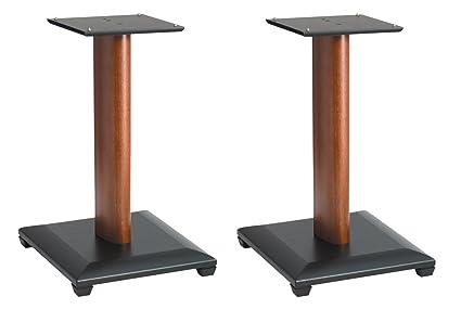 Sanus Natural Series 18quot Speaker Stands For Medium To Large Bookshelf Speakers Cherry