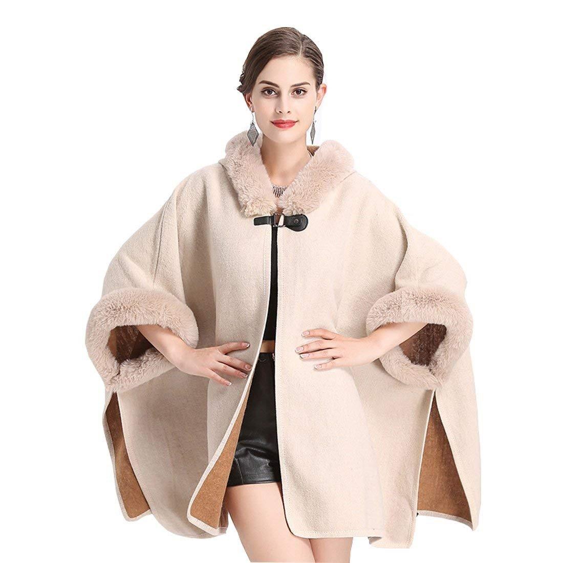 Cardigan Donna Autunno Invernali Eleganti Moda Outerwear Spacco Fashion Monocromo Baggy Irregular Manica Pipistrello Party Mantella con Cappuccio Scialle della Giubotto Casual Giaccone Abbigliamento