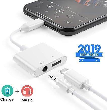Amazon.com: Adaptador de auriculares para iPhone 8 a 0.138 ...