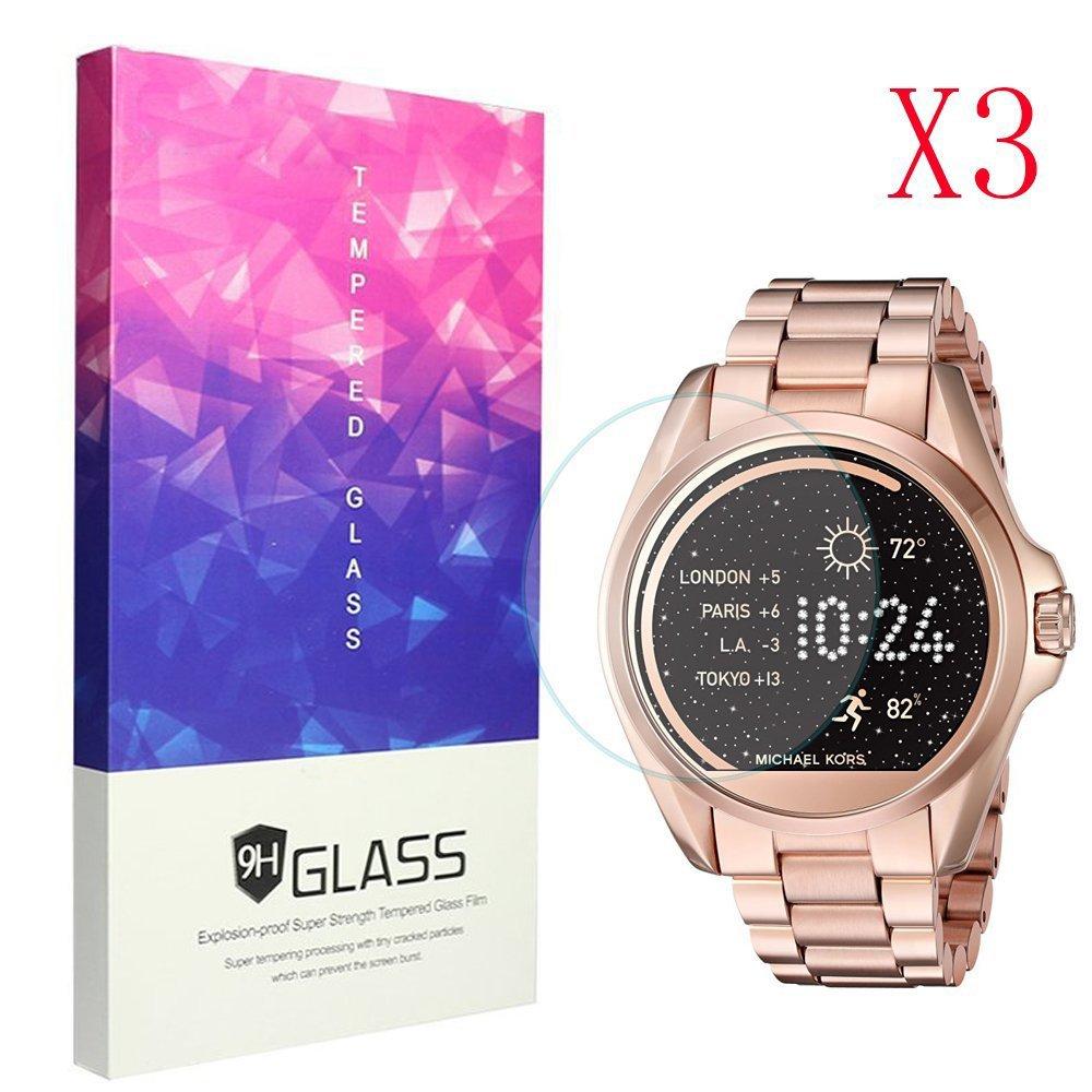Ceston 9H Protector De Pantalla De Cristal Templado para Michael Kors Smartwatch Bradshaw (3 Pack): Amazon.es: Electrónica