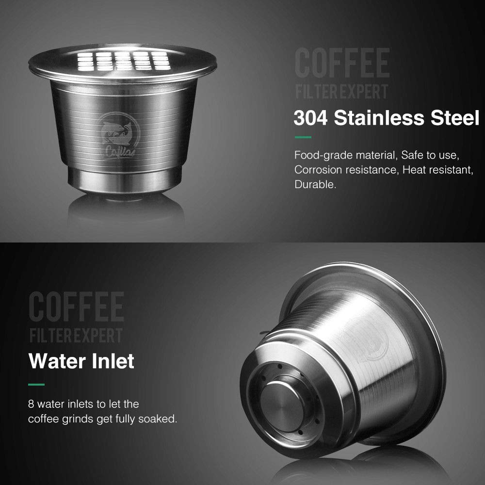 MG Coffee Stainless Steel Reusable Nespresso Capsule Permanent Coffee Pod Holder for Nespresso Original Line Machines(NOT All) with Gifts