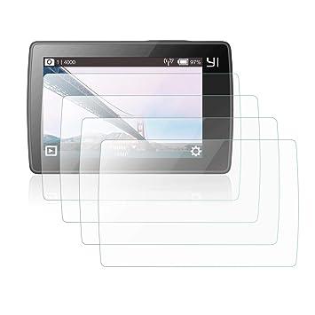 Mwoot Pack de 4 Cristal Protector para Xiaomi Yi 4K, Xiaomi Yi 4K Plus (4K+) y Xiaomi Yi Lite Cámara, 9H Dureza Resistente a Arañazo Protector de ...