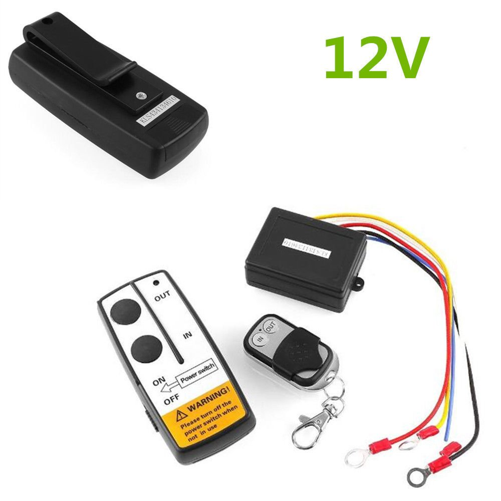 FidgetGear New 1 x 12V Wireless Remote Control Kit For Jeep Atv Winch Cordless For Truck Car