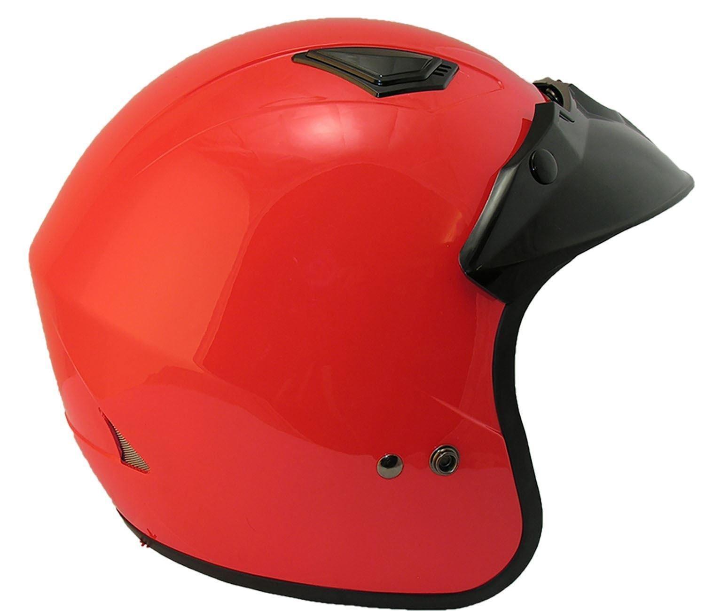 rouge// argent/é//noir//bleu 55-56 cm agr/é/é EC 22 Qtech Casque jet pour moto//scooter S Bleu