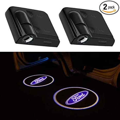 SOONDAR Upgraded Universal Senseor Wireless Car Door LED Projector Light Courtesy Welcome Logo Light Shadow Ghost Laser Lamp for GMC 2PCS