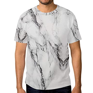 7d566189948a Image Unavailable. Image not available for. Color: Jonassk Woolffk White  Marble Design Men's Short Sleeve T-Shirt Royal Blue ...