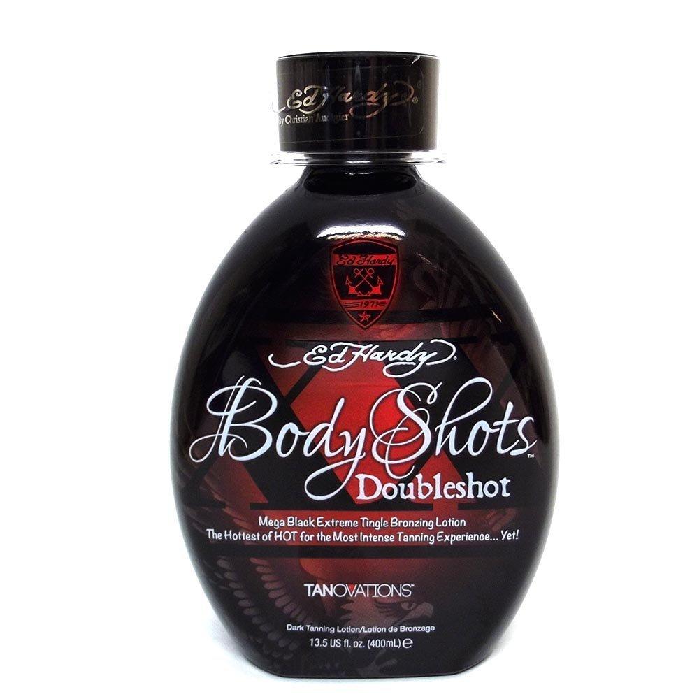 Tanovations Ed Hardy Body Shots Double Shot Warning Mega Extreme Hot Tingle, 13.5 oz. by Tanovations Ed Hardy