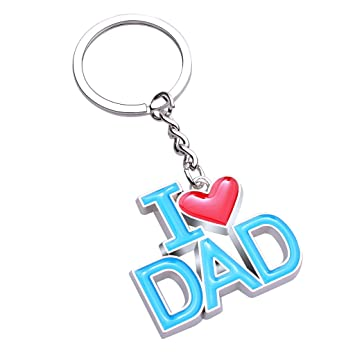 I Love Dad - Llavero de metal llavero etiqueta - gran regalo ...
