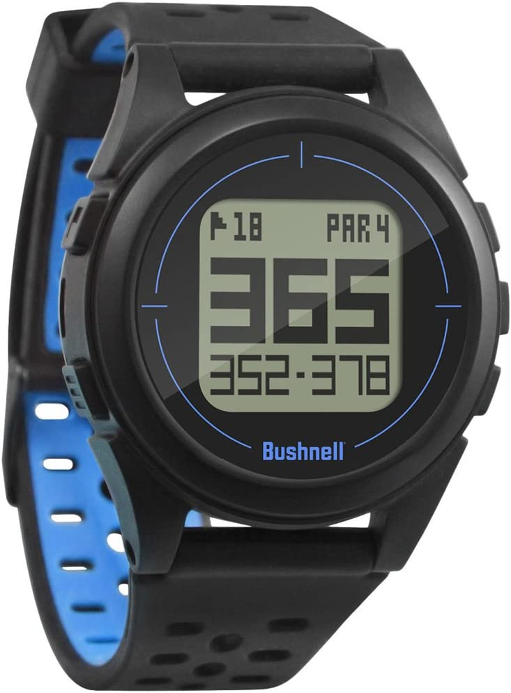 PlayBetter Bushnell ION 2 Golf GPS Watch Bundle Portable USB Charger Simple, Intuitive Golf GPS Watch 36,000 Worldwide Courses 2018 Version Black Blue