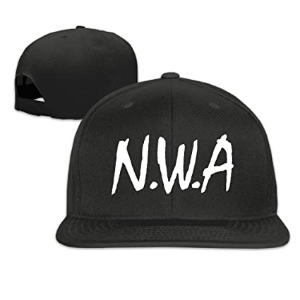 fe4575dab1e7b7 Amazon.com: GlyndaHoa Straight Outta Compton NWA Unisex Adjustable Flat  Visor Hat Baseball Cap Black: Sports & Outdoors