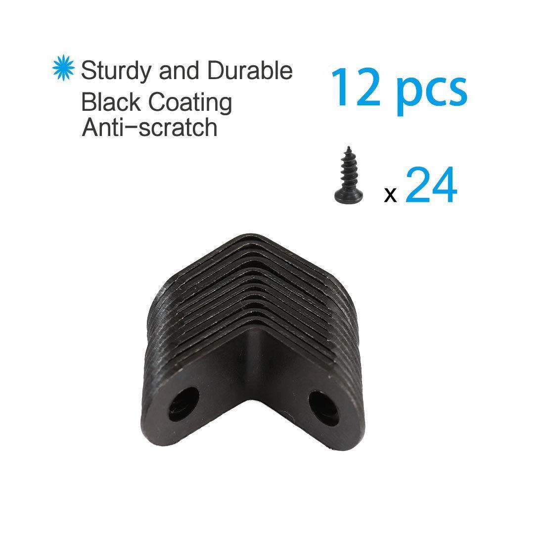ZCHXD Soporte de ángulo de 12 piezas Metal 12x12 mm Sujetador de ...
