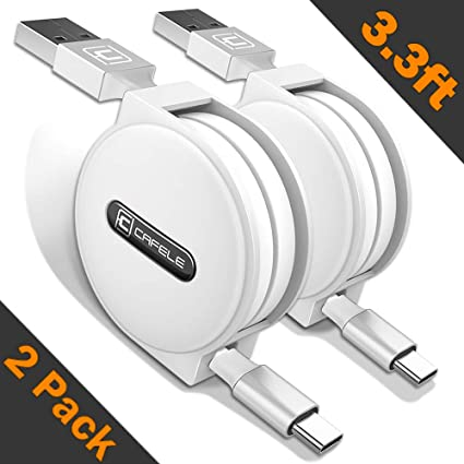 Amazon.com: lingdong USB C Paquete de 2 3.3 foot, Blanco ...