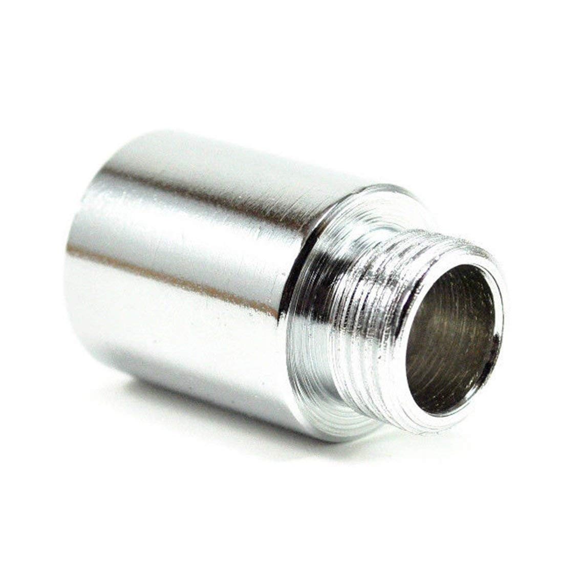 Mazur 1Pc O2 Sensore di ossigeno Extender Extension Spacer Scarico M18 x1.5 Bung HHO Adapter Straight Bolt-on Easy Installation argento