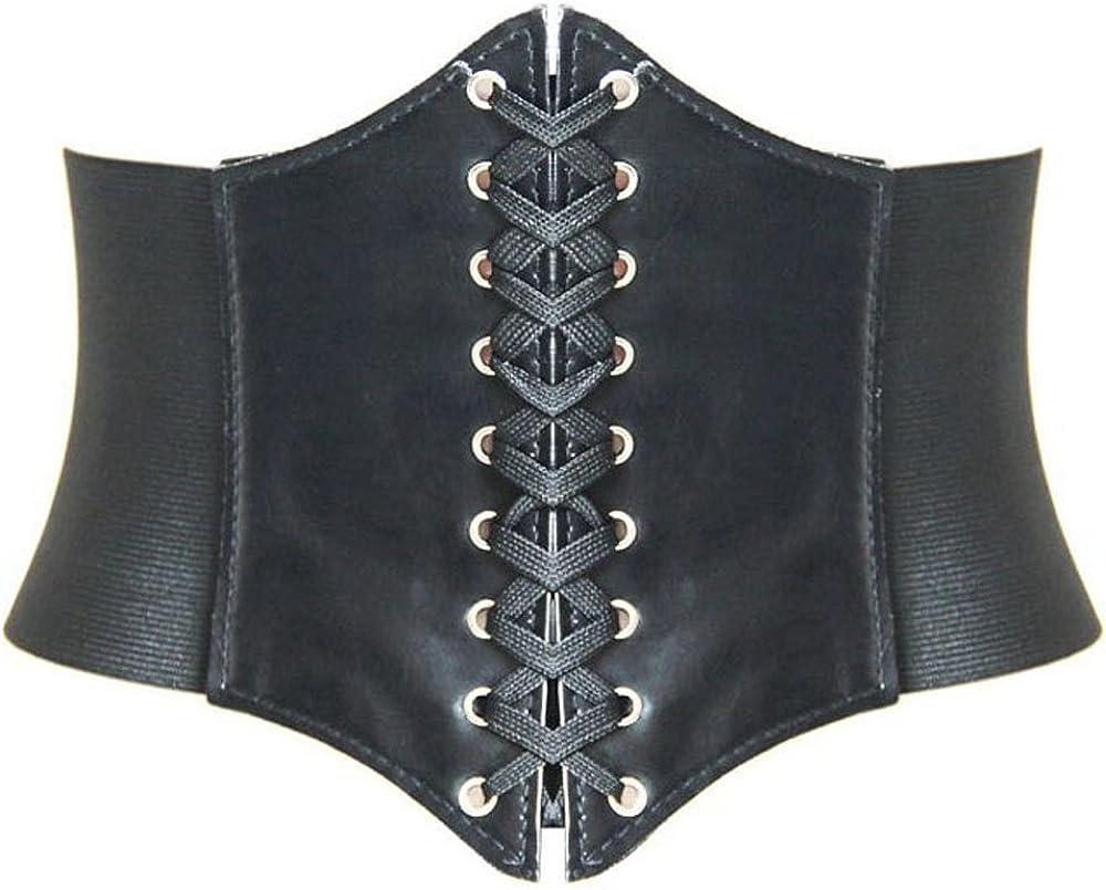 HANERDUN Lace-up Corset Elastic Retro Cinch Belt Waist Belt Four Sizes at  Women's Clothing store