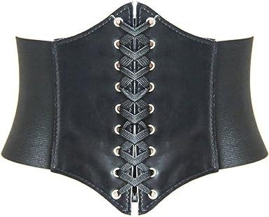 HANERDUN Lace-up Corset Elastic Retro Cinch Belt Waist Belt Four Sizes