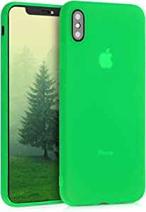 kwmobile TPU Silicone Case Compatible with Apple iPhone Xs Max - Soft Flexible Protective Phone Cover - Neon Green