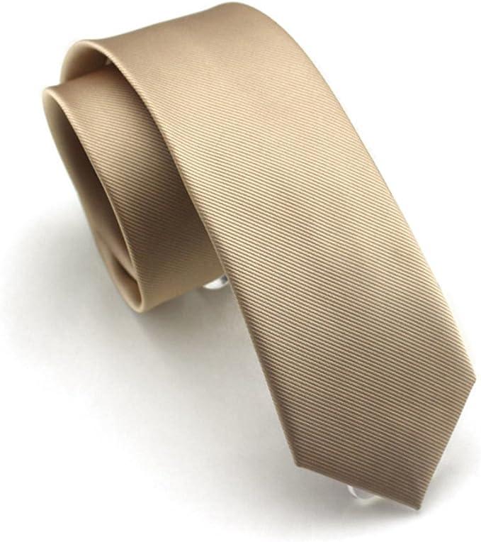 US Classic Skinny Men Slim Tie Solid Color Plain Silk Jacquard Woven Necktie LOT