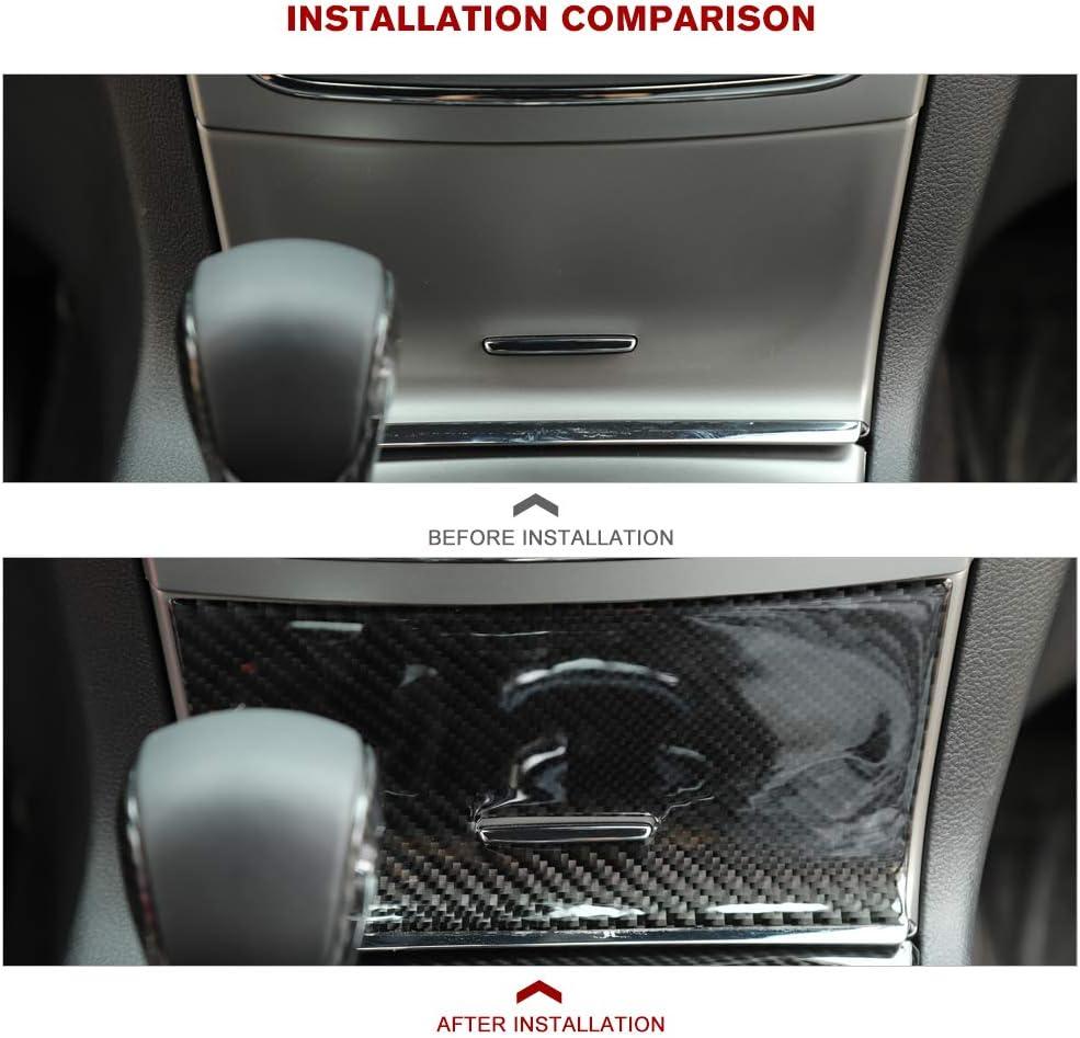 CheroCar Real Carbon Fiber Center Console Storage Stickers for Jeep Grand Cherokee 2014-2020 Interior Accessories 1PC