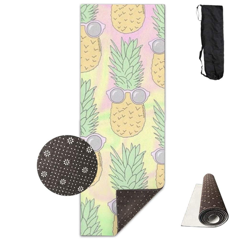 Sunglasses Pineapple Yoga Mat  Advanced Yoga Mat  NonSlip Lining  Easy to Clean  LatexFree  Lightweight and Durable  Long 180 Width 61cm