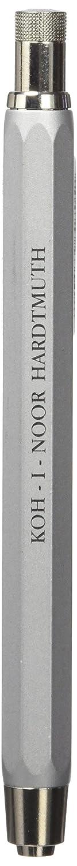 Koh-I-Noor : 5.6mm Mechanical Metal Clutch Leadholder with Built-in Sharpener 5340 : Silver