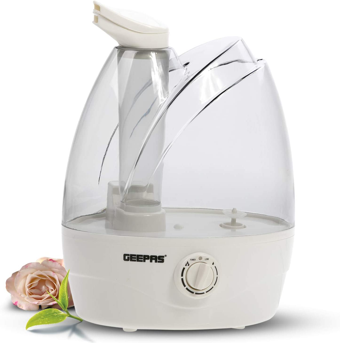 Geepas 32W Humidifier | Double Nozzle, 9 Hours of Continuous