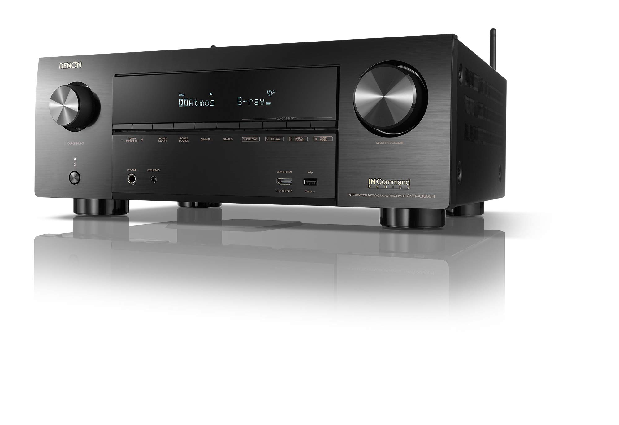Denon AVR-X3600H 9.2CH 4K AV Receiver with 3D Audio and Heos Built-in